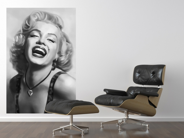 Fototapet 00667 Marilyn Monroe (alb negru) 2