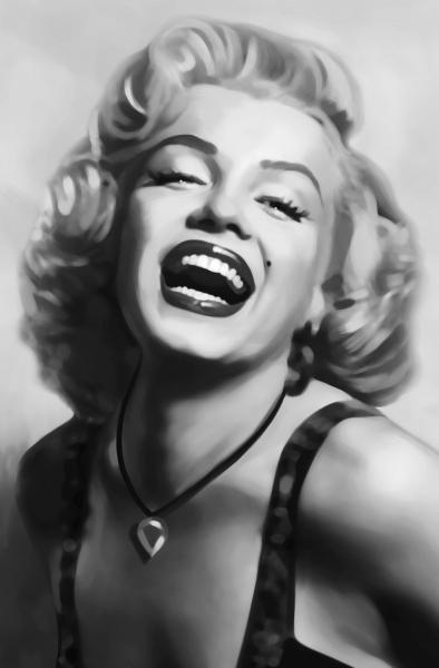 Fototapet 00667 Marilyn Monroe (alb negru) 0