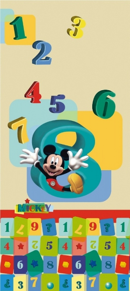 Fototapet FTDv 0243 Mickey si numerele [0]