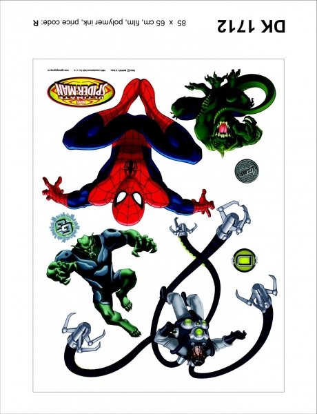 Sticker decorativ DK1712 Spiderman, Doc Ock, Lizard & GG [0]