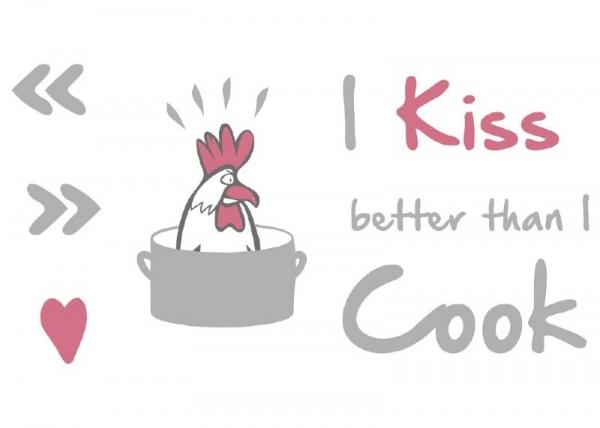 Sticker decorativ 17801 Kiss & Cook 1