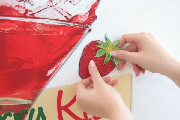 Sticker decorativ 17711 Strawberry Kiss [2]