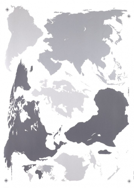 Sticker decorativ 17021 Harta Lumii [1]