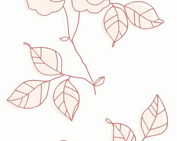 Tapet decorativ, model cu flori, 5691-41 [0]