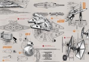 Fototapet 8-493 STAR WARS Blueprints [0]