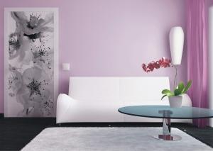 Fototapet FTV 0221 Floare alb si negru1