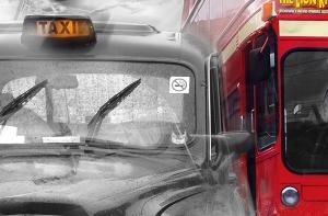 Fototapet 00698 Taxi si autobus in Londra [1]