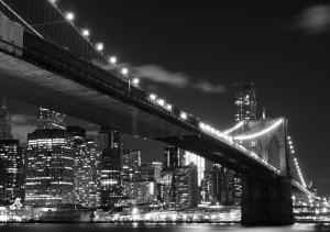 Fototapet FTS 1305 Brooklyn Bridge noaptea0