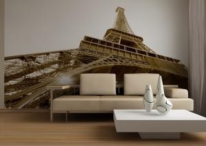 Fototapet FTS 0172 Turnul Eiffel alb negru [1]