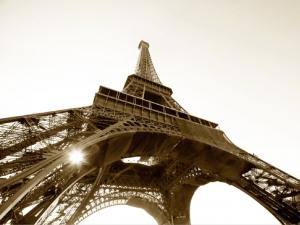 Fototapet FTS 0172 Turnul Eiffel alb negru [0]