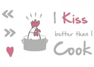 Sticker decorativ 17801 Kiss & Cook1