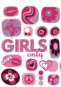 Sticker decorativ 17006 Girl's Only [1]