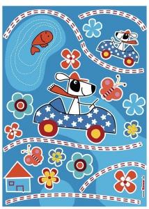 Sticker decorativ 17003 Dog's Day1