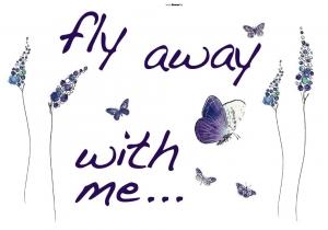 Sticker decorativ 17719 Fly away1