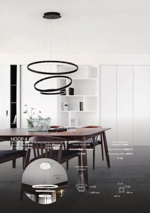 Lampa LED HOOP 4 IP20 COLG. 110W 30K [6]