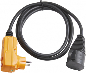 Adaptor cu protectie Brennenstuhl FI IP44 2m black H07RN-F 3G1,5, Indicator test [0]