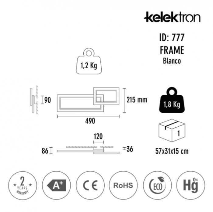 Aplica Frame LED - Alba [2]