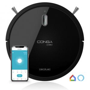 Aspirator robot 4 in 1 Conga 1090 Connected, Control aplicatie, 1400Pa, autonomie 160 minute, rezervor lichide si praf, functie mop [0]