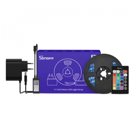 Banda LED Sonoff Wifi RGB L1-Lite, 5m, Smart [0]