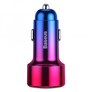 Baseus Incarcator auto Magic PPS QC 4.0+ 2USB rosu - albastru 45W [0]