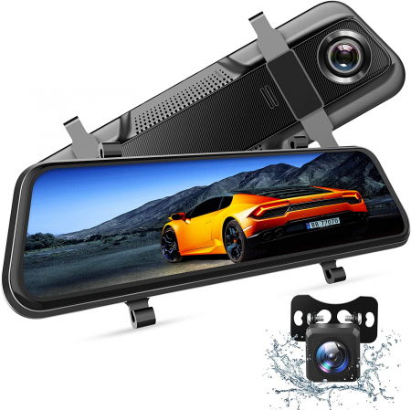 "Camera auto DVR Dubla Oglinda VanTop H609, FullHD, Bord si Spate, Touch-Screen, Unghi 170 grade, G Senzor, Display 10"" IPS [0]"