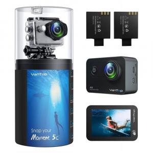 Camera video sport VanTop Moment 5C, 4K/60fps, Senzor Sony IMX078,  Wi-Fi, Stabilizator imagine, Touch Screen, 2 Acumulatori [0]