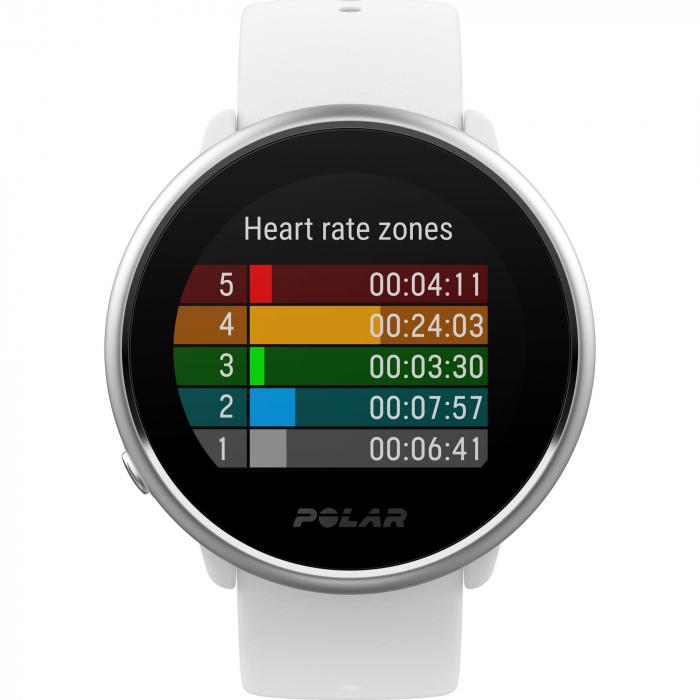 Ceas smartwatch Polar Ignite White/Silver marime S [1]