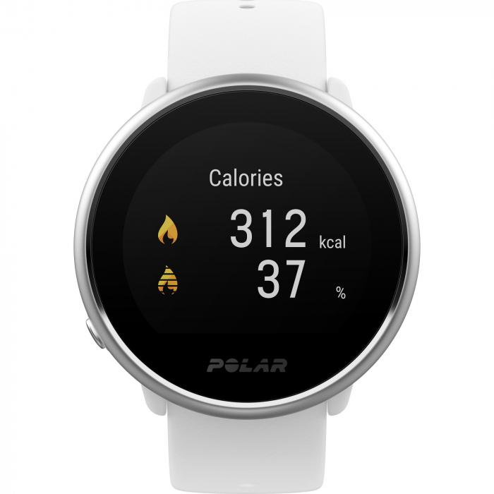 Ceas smartwatch Polar Ignite White/Silver marime S [2]