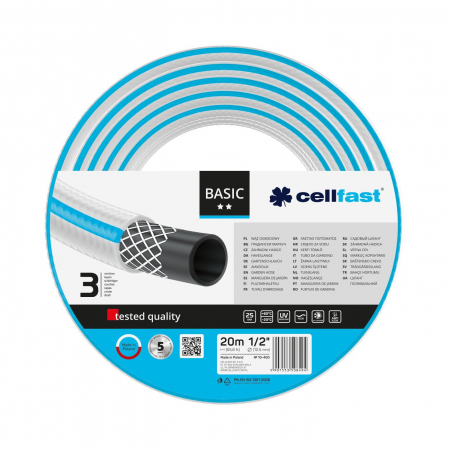 "Furtun pentru gradina Cellfast BASIC cu 3 straturi, 1/2"", Armat, 20m, protectie UV [0]"
