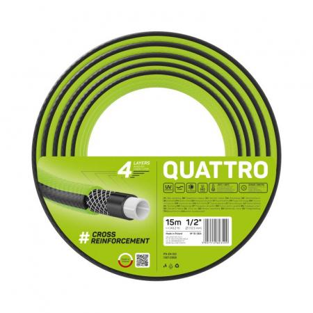 "Furtun pentru gradina Cellfast QUATTRO cu 4 straturi, 1/2"",  Armat, 15m, protectie UV [0]"