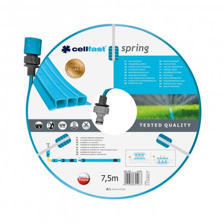"""Furtun pentru irigare Cellfast Spring 1/2"""", lungime 7.5 m, trei tuburi, duze pentru irigare [0]"""