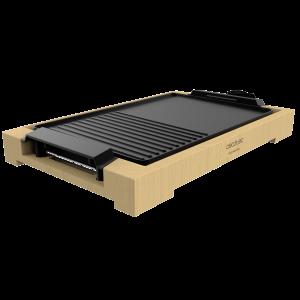 Gratar electric Cecotec Tasty&Grill 2000 Bamboo, 2000W, cadru din bambus, termostat reglabil [0]