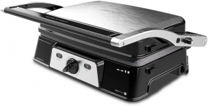 Grill 2 in 1, Rock'nGrill, Cecotec 1500 Take&Clean, 1500W, regulator de putere, piatra antiaderenta, gratar electric si aparat de facut sandvisuri [0]