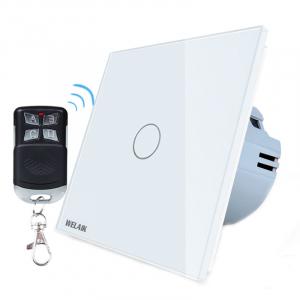 Intrerupator simplu cu touch Welaik, Wireless, Telecomanda inclusa, Alb [0]