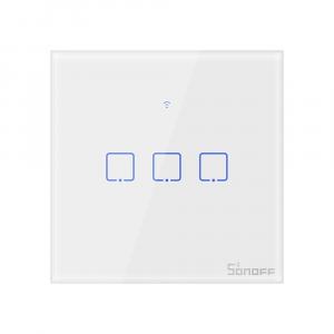 Intrerupator Smart  cu Touch  Sonoff T0 EU TX , WiFi, (3 canale) [0]