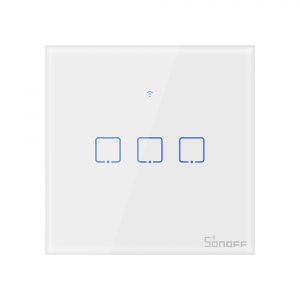 Intrerupator Smart  cu Touch Wifi + RF 433 Sonoff T1 EU TX, (3 canale) [0]