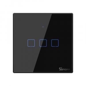 Intrerupator Smart  cu Touch WiFi + RF 433 Sonoff T3 EU TX, (3 canale) [0]