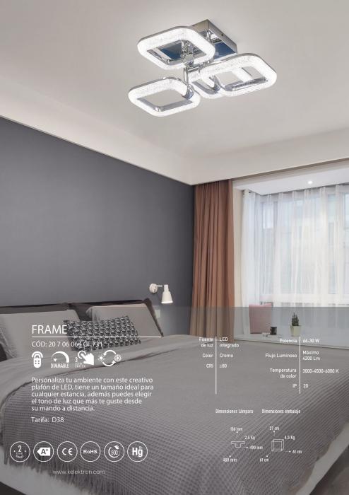 Kelektron Lampa LED Frame IP20 SUP. 64W K2RC DIM CH. [2]