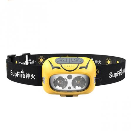 Lanterna LED pentru cap Supfire HL05-S, USB, 500lm, incarcare USB, control miscare mana [0]