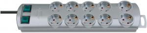 Multipriza Brennenstuhl Primera-Line Technics 10 prize, Intrerupator, 2m, Argintiu [0]