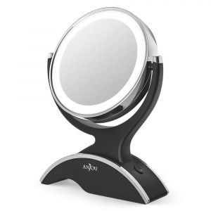 Oglinda cosmetica Anjou iluminata LED, 2 fete, Marire 7X [0]