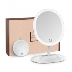 Oglinda cosmetica Anjou iluminata LED, control Touch, Marire 5X acumulator reincarcabil [0]
