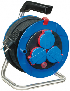 Prelungitor Exterior Brennenstuhl Garant cu tambur, 3 prize, H05RR-F 3G1,5, 15m, IP44 [0]