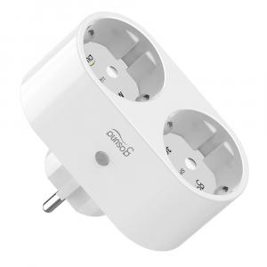 Priza inteligenta WiFi Gosund, 2 Porturi Schuko, 16A, Monitorizare Consum, SP211 [0]