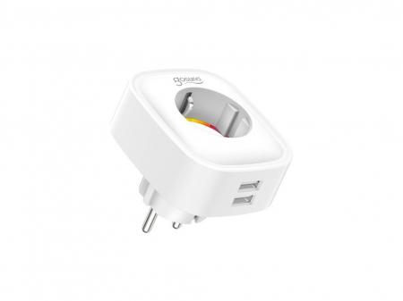 Priza inteligenta WiFi Gosund SP112, 16A, 2X USB, Monitorizare consum energie [0]