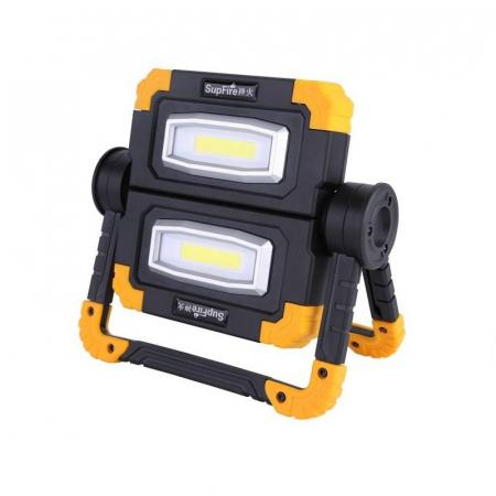 Proiector LED portabil SupFire G7, 20W, 2000lm, reincarcabil, COB, Acumulator 5000mAh [0]