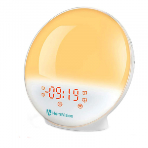 Radio cu ceas Smart Wifi HeimVision, simulare rasarit, control din smartphone, lampa de veghe cu 7 culori, 20 de intensitati a luminii, incarcare USB, Alexa [0]