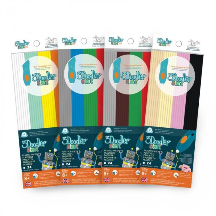 Set filamente multicolore pentru creion 3D 3Doodler Start [5]