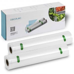 Set folie pentru vidare Cecotec, 20 x 600, pentru aparat de vidat FoodCare 600 Easy, 2 bucati [0]