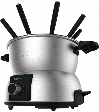 Set fondue electric Cecotec Fun GourmetFondue 1000 W, termostat reglabil ,1.6 litri, 8 furculite [0]
